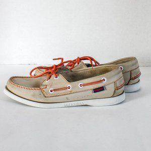Sebago Docksides Leather Deck Shoes Tan Or…